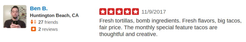 SOHO TACO Gourmet Taco Catering - 5 star Yelp Review - Huntington Beach CA