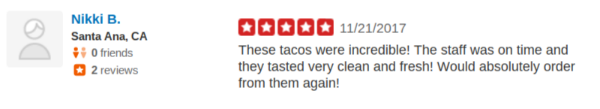 SOHO TACO Gourmet Taco Catering - Thanksgiving - Orange County OC - Yelp Review