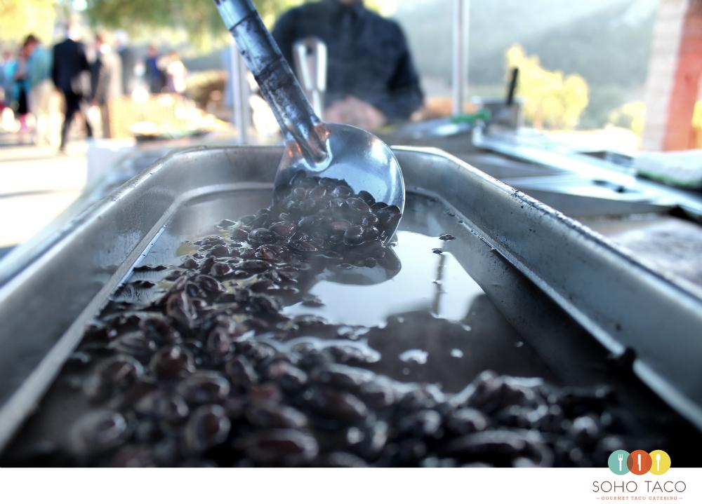 SOHO TACO Gourmet Taco Catering - Wedding - Holland Ranch - San Luis Obispo - Black Beans