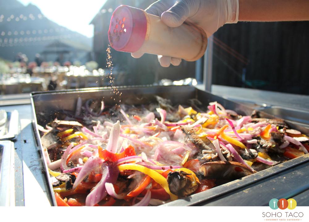 SOHO TACO Gourmet Taco Catering - Wedding - Holland Ranch - San Luis Obispo - Seasoning The Veggies