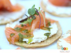 SOHO TACO - Wedding Catering - Hummingbird Nest Ranch - Simi Valley - Tostadita de Salmon Appetizers (Lead)