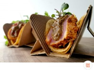 SOHO TACO Gourmet Taco Catering - December Taco of the Month - Ahi Quemado
