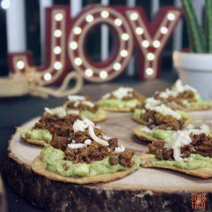 SOHO TACO Gourmet Taco Catering - Merry Christmas - Tostaditas de Chorizo Appetizers