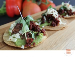 SOHO TACO Gourmet Taco Catering - Orange County - Los Angeles - Tostadita de Chorizo
