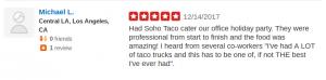 SOHO TACO Gourmet Taco Catering - Spicy Potato Taco - Yelp Review