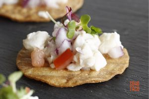 SOHO TACO Gourmet Taco Catering - Bridal World Expo - OC Fair & Event Center - Tostaditas de Ceviche