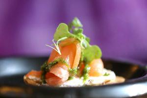 SOHO TACO Gourmet Taco Catering - Long Beach - Tostadita de Salmon Ahumado - Appetizers