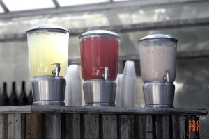 SOHO TACO Gourmet Taco Catering - Dos Pueblos Orchid Farm Wedding - Aguas Frescas At The Bar - Santa Barbara County