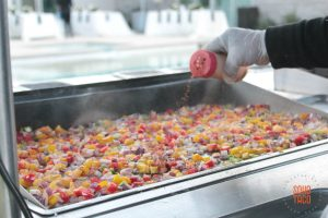 SOHO TACO Gourmet Taco Catering - Indio Polo Villas Wedding - Grilled Veggies For Spicy Potato Tacos