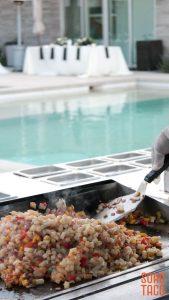 SOHO TACO Gourmet Taco Catering - Indio Polo Villas Wedding - Grilling Poolside