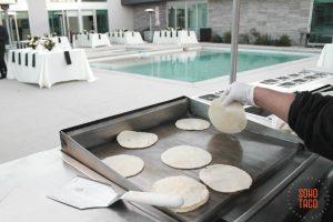 SOHO TACO Gourmet Taco Catering - Indio Polo Villas Wedding - Handmade Tortillas By The Pool