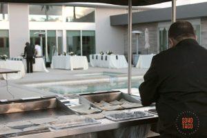 SOHO TACO Gourmet Taco Catering - Indio Polo Villas Wedding - View of Pool