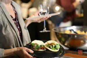 SOHO TACO Gourmet Taco Catering - OC Food & Wine Festival - Marconi Automotive Museum - Guest Enjoying Veggie Tacos
