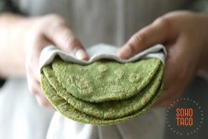 SOHO TACO Gourmet Taco Catering - Taco Jardinero - Tortilla de Albahaca