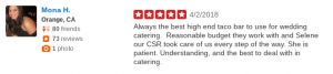 SOHO TACO Gourmet Taco Catering - 5 Star Yelp Review