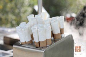 SOHO TACO Gourmet Taco Catering - Environmental Nature Center Wedding - Bamboo Napkins & Cutlery