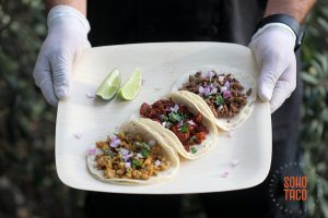 SOHO TACO Gourmet Taco Catering - Environmental Nature Center - Wedding - Bamboo Plates