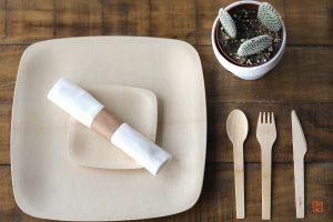 SOHO TACO Gourmet Taco Catering - Environmental Nature Center - Wedding - Complete Set Plates & Flatware