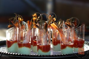 SOHO TACO Gourmet Taco Catering - Wedding - Hummingbird Nest Ranch - Cocteles de Camaron Appetizers