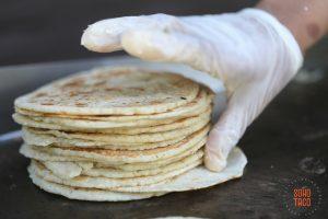 SOHO TACO Gourmet Taco Catering - Wedding - Hummingbird Nest Ranch - Santa Susana - Simi Valley - Stack of Fresh Tortillas