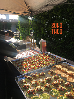 SOHO TACO Gourmet Taco Catering - Bougainvillea Estate - Assembling Appetizers - Indio CA