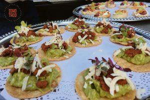 SOHO TACO Gourmet Taco Catering - Cree Estate Wedding - Cathedral City - Tostaditas de Chorizo