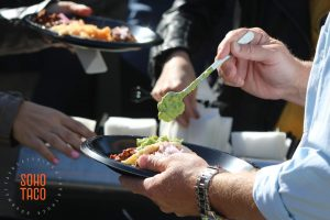 SOHO TACO Gourmet Taco Catering - Greengate Ranch - Wedding Rehearsal - Edna Valley - San Luis Obispo - CA - Enjoying Guacamole