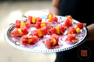 SOHO TACO Gourmet Taco Catering - Hummingbird Nest Ranch - Espadillas de Fruta Appetizers