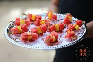 SOHO TACO Gourmet Taco Catering - Hummingbird Nest Ranch - Wedding - Simi Valley - Santa Susana - Espadillas de Fruta