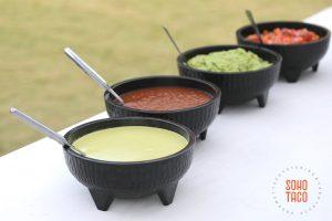 SOHO TACO Gourmet Taco Catering - Hummingbird Nest Ranch - Wedding - Simi Valley - Santa Susana - Salsas