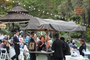 SOHO TACO Gourmet Taco Catering - San Diego Botanic Garden Wedding - Grilling on the Gazebo Lawn