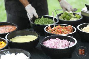 SOHO TACO Gourmet Taco Catering - San Diego Botanic Garden - Wedding - Salsas & Condiments