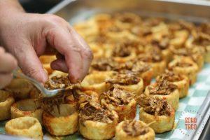 SOHO TACO Gourmet Taco Catering - Sopesitos de Mole de Pollo - Assembling the Ingredients - Orange County - OC