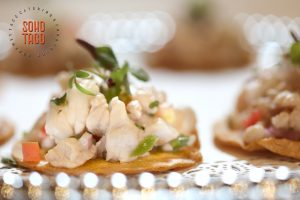 SOHO TACO Gourmet Taco Catering - The Good Beer - Appetizer & Beer Pairing - Tostadita de Ceviche