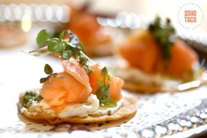 SOHO TACO Gourmet Taco Catering - The Good Beer - Appetizer & Beer Pairing - Tostadita de Salmon Ahumado