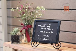 SOHO TACO Gourmet Taco Catering - Wedding - Environmental Nature Center - Menu