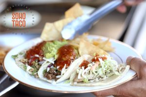 SOHO TACO Gourmet Taco Catering - Cerritos Library - Adding Chips