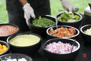 SOHO TACO Gourmet Taco Catering - San Diego Botanical Garden - Salsa & Condiments Table
