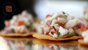 SOHO TACO Gourmet Taco Catering - Tostadita de Ceviche Appetizer - Orange County - OC - Los Angeles - LA