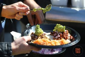 SOHO TACO Gourmet Taco Catering - Wedding - Greengate Ranch - Adding Guacamole