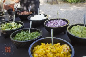 SOHO TACO Gourmet Taco Catering - Wedding - Temecula - French Farmhouse Wine Country Escape - Condiments & Salsas