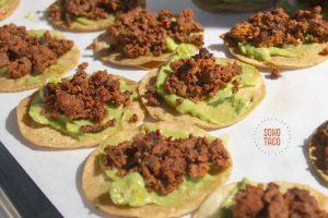 SOHO TACO Gourmet Taco Catering - Wedding - Temecula - French Farmhouse Wine Country Escape - Tostaditas de Chorizo