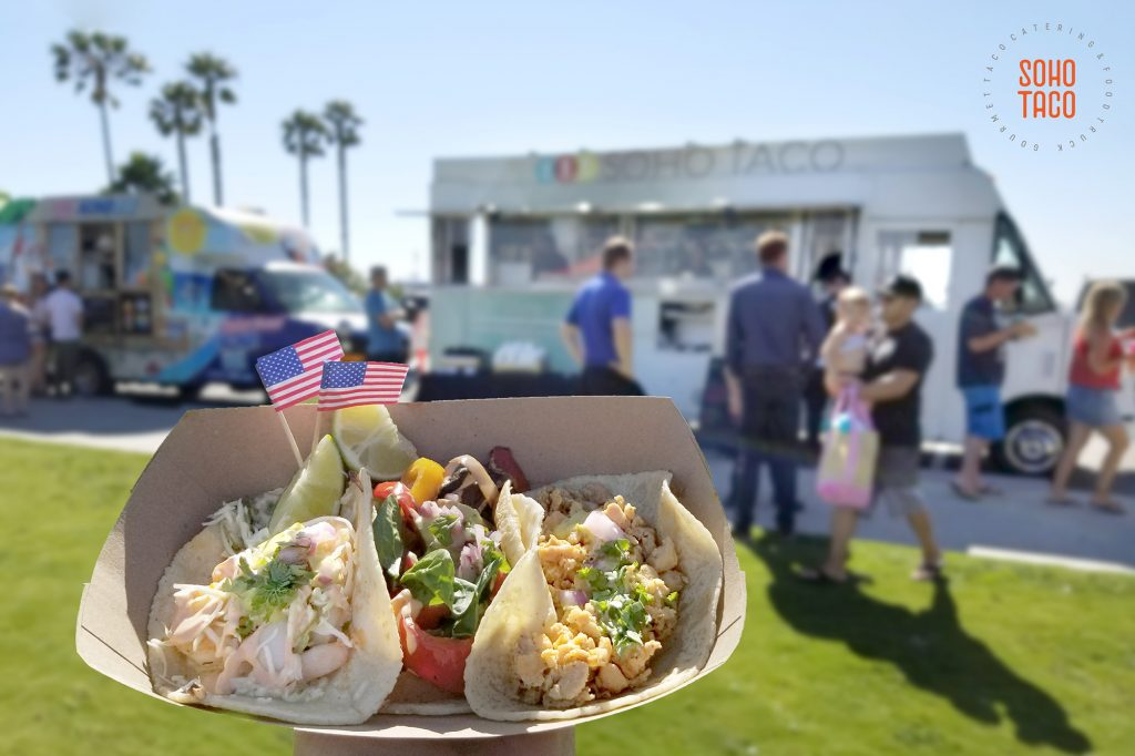 SOHO TACO Gourmet Taco Catering - Band On the Sand - Seal Beach - Orange County - OC - 4th of July - Independence Day Celebration
