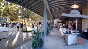 SOHO TACO Gourmet Taco Catering - Fullerton Arboretum Wedding - Courtyard Area