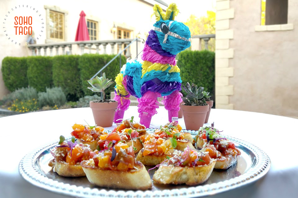 SOHO TACO Gourmet Taco Catering - The Brander Vineyard - Santa Ynez - Pinata - Wedding Rehearsal