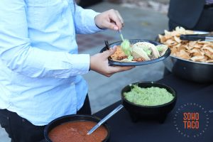 SOHO TACO Gourmet Taco Catering - Seventh Place - Wedding - Los Angeles CA - Adding Guacamole
