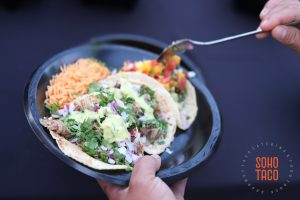 SOHO TACO Gourmet Taco Catering - Seventh Place - Wedding - Los Angeles CA - Dressing With Mango Salsa