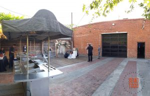 SOHO TACO Gourmet Taco Catering - Seventh Place - Wedding - Los Angeles CA - Taco Cart in Courtyard