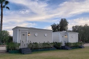 SOHO TACO Gourmet Taco Catering - Hummingbird Nest Ranch - Deluxe Outdoor Bathrooms
