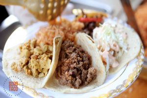 SOHO TACO Gourmet Taco Catering - The French Estate - Asada Pollo Camarones On A Plate - Orange CA